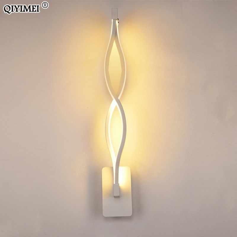 Стена в современном минималистическом стиле лампы для гостиной, спальни прикроватные 16 Вт AC96V-260V светодиодный бра черно-белая лампа для прохода освещение украшения