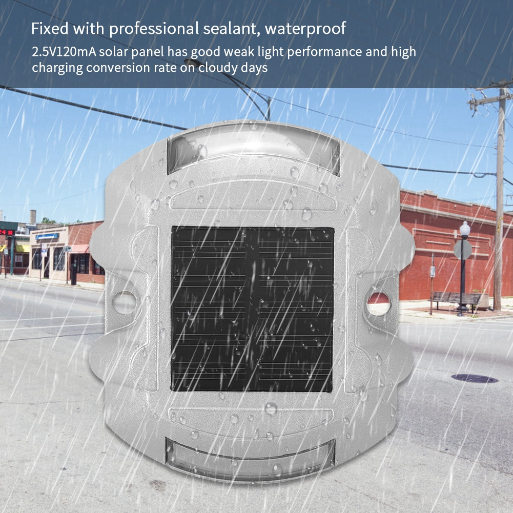 Pathway Yard Sporting Casting Aluminum Road Stud Light Outdoor Solar Powered Lamp For Pathway Road For Lighting Road Driveway
