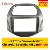 Seicane No gap Double Din Car Stereo Radio Fascia Panel Frame For 2018+ Daewoo Matiz Chevrolet Spark Baic Beat
