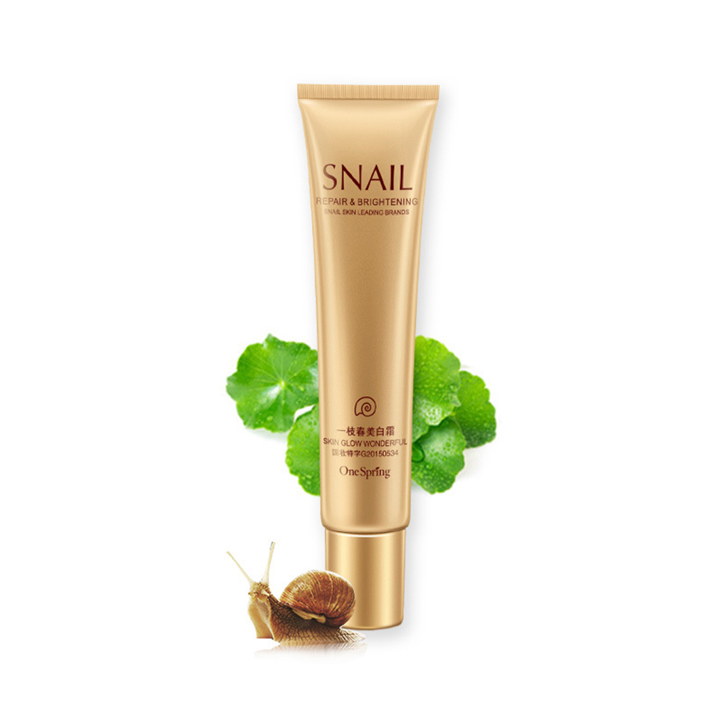 20g Snail Whitening Cream Skin Moisturizing Brightening Skin Anti-Wrinkle Hydrating Firming Beauty Whitening Essence Cream TSLM1