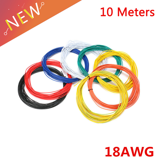 10M 18AWG Insulated Wire 2.1mm PVC Wire Electronic Cable UL Certification Insulated LED Cable For DIY Connect Super Flexible