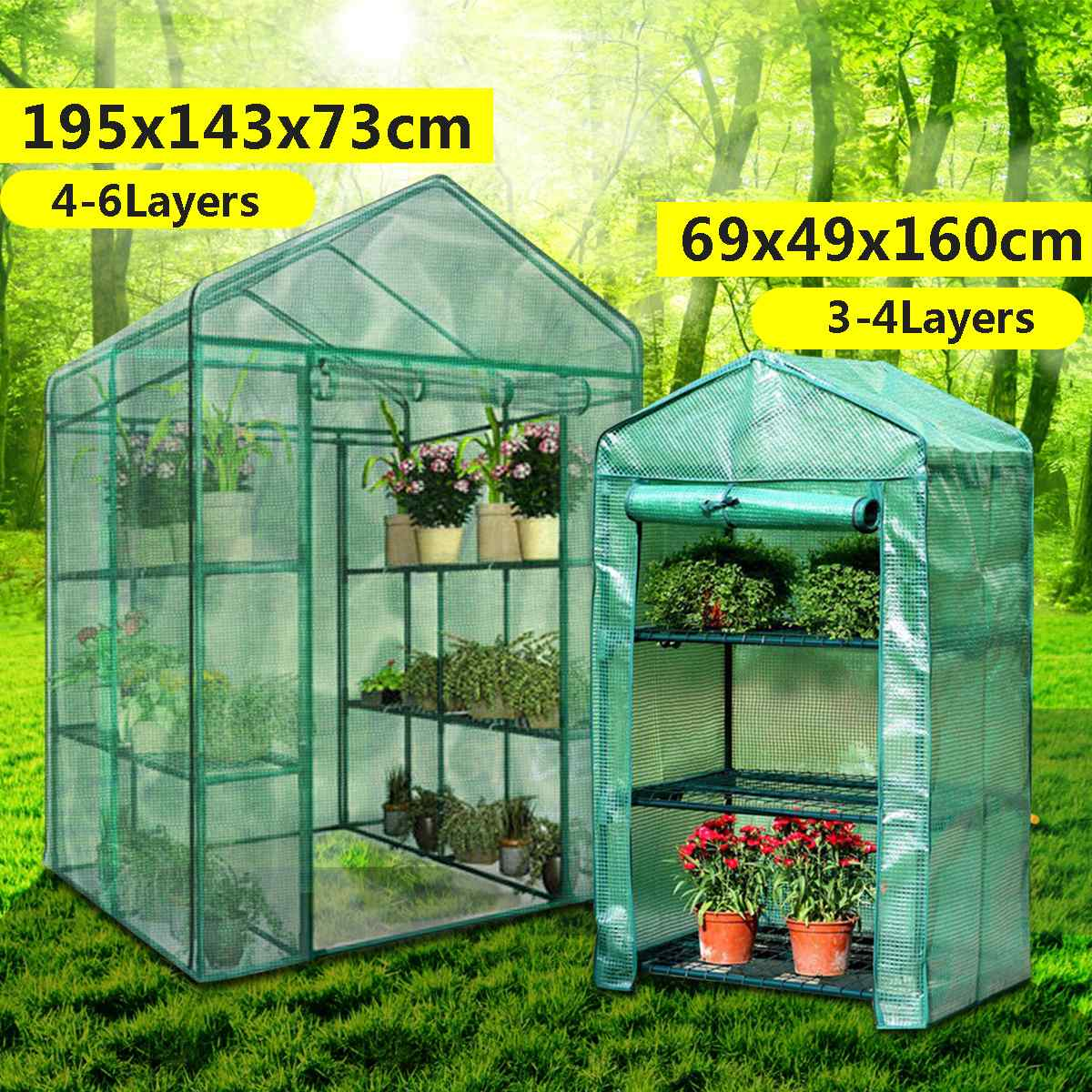 Roof Garden Greenhouse House Flower Plant Keep Warm Shelf Shed Durable Portable PVC Plastic Cover Roll-up Zipper Outdoor BreathRoof Garden Greenhouse House Flower Plant Keep Warm Shelf Shed Durable Portable PVC Plastic Cover Roll-up Zipper Outdoor Breath