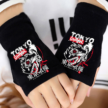 Fashion Anime Tokyo Ghoul Finger Cotton Knitting Wrist Gloves Mitten Lovers Anime Accessories Cosplay Fingerless Gift