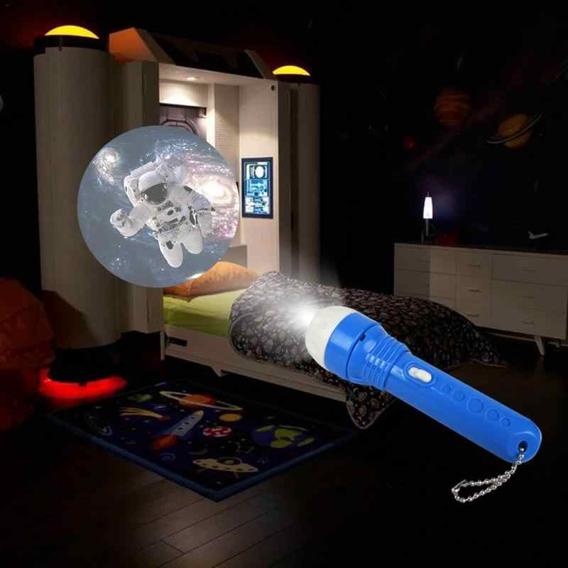 Baby Sleeping Story Flashlight Projector Lamp Toys Children's Dinosaur Sea World Light-up Toy For Kids Educational Sleep Toys
