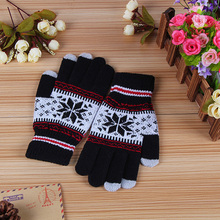 Snowflake Touch Screen Controllable Gloves Plus Velvet Thick Touch Screen Special Gloves Wild Warm Gloves Men And Women berghaus touch screen polartec® gloves