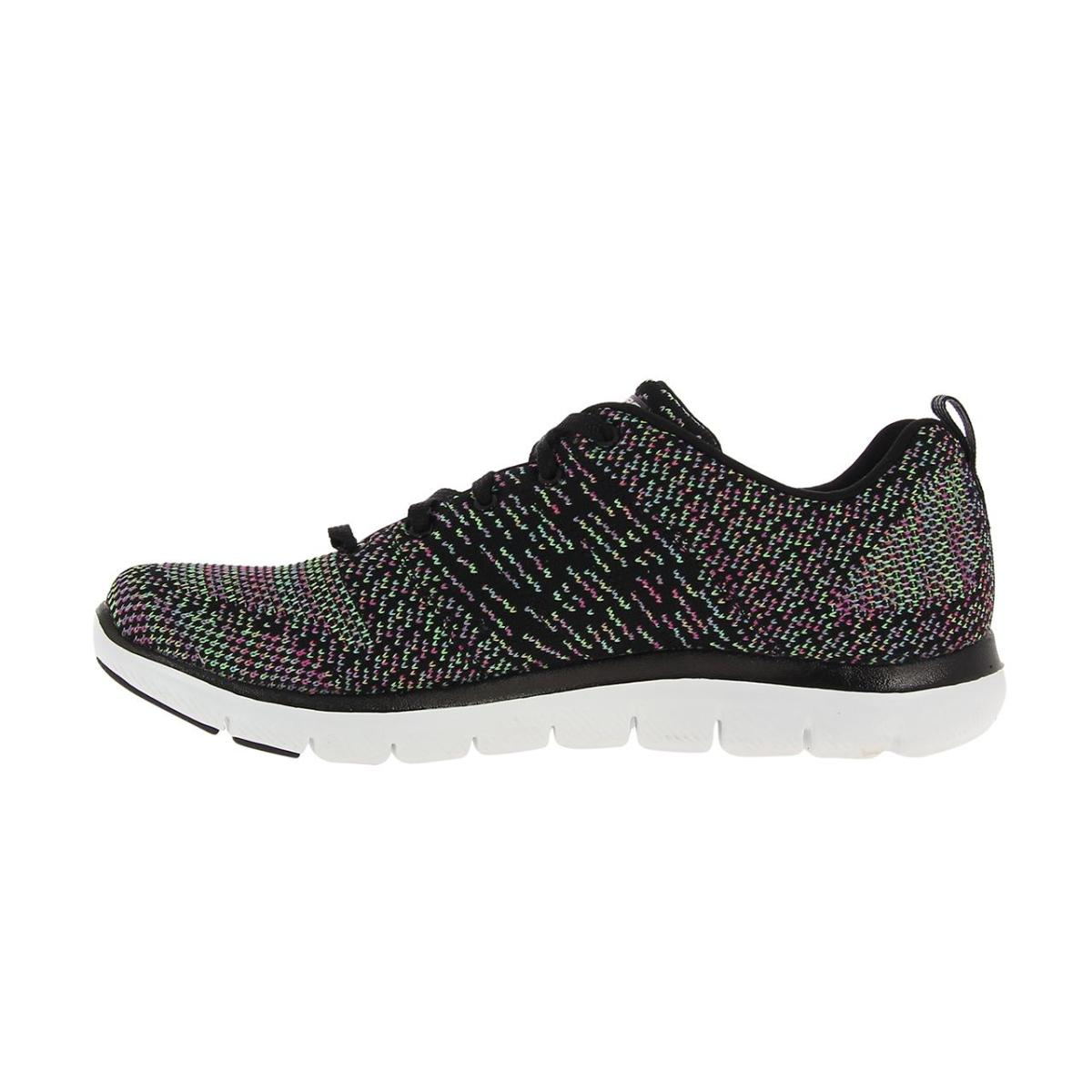 SKECHERS MUJER 12756 BKMT TEXTIL ZAPATOS in Walking Shoes
