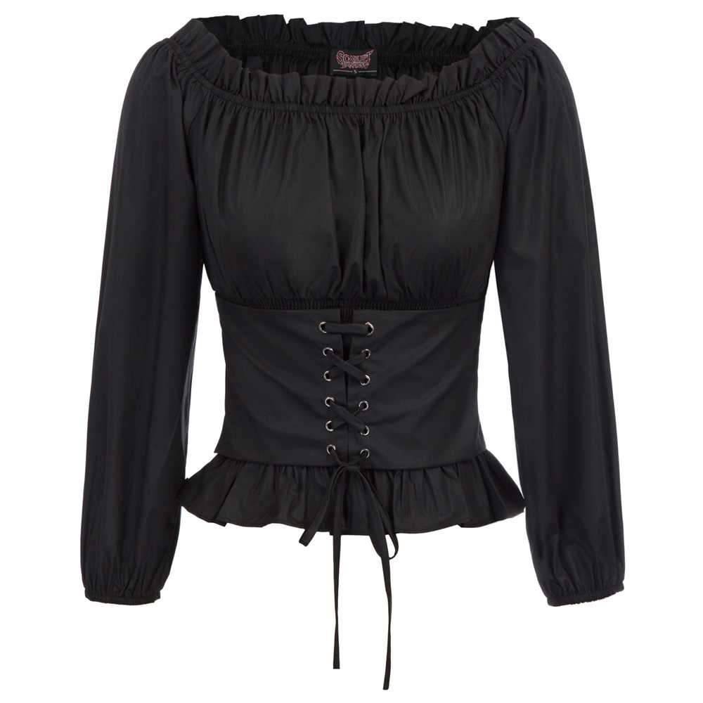 fb71f5f6222 high Stretch o neck Vintage Women Renaissance Gothic Off-the-Shoulder Corset  Style Tops