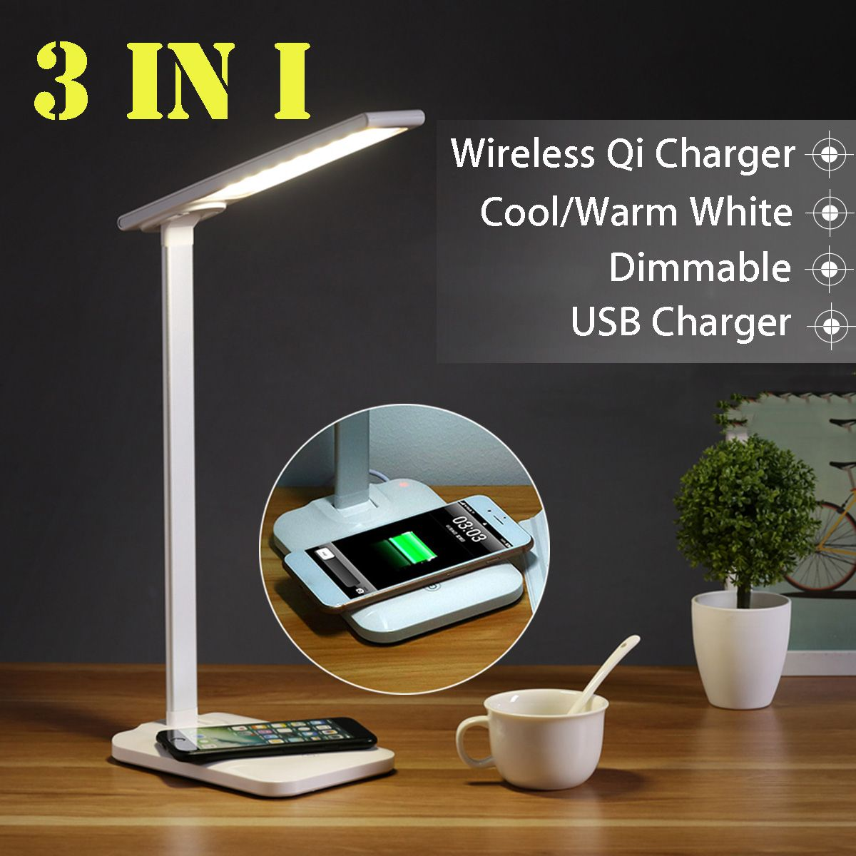 Adjustable Table Lamp Dimmable…