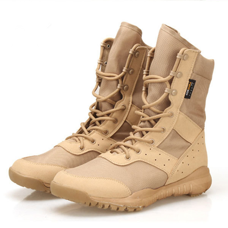 Summer Breathable Mesh Light Weight Desert Tactical Training Army Boots Men Outdoor Sports Camping Hunting High Tube Thin ShoesSummer Breathable Mesh Light Weight Desert Tactical Training Army Boots Men Outdoor Sports Camping Hunting High Tube Thin Shoes