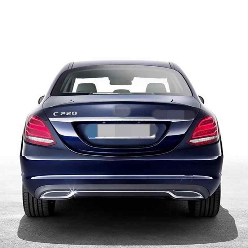 3D хромированная модель автомобиля переоборудование значок стикер Автомобильный багажник Задняя эмблема значок хромированные буквы для Mercedes C-Class C180 C200 C220