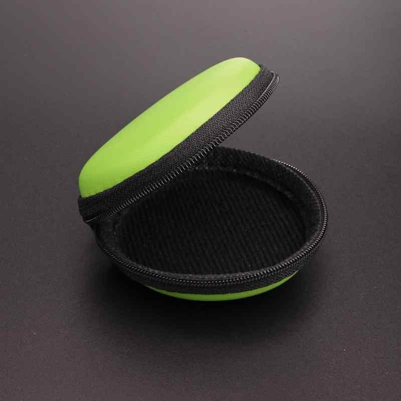 Mini przenośne okrągłe EVA etui na słuchawki słuchawki Bluetooth słuchawki kabel pudełko do przechowywania dla telefonów komórkowych zestaw słuchawkowy Bluetooth MP3 MP4 słuchawki