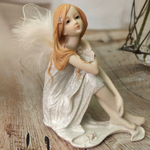 Angel Decoration Girl Figurines  Living Room Handicraft Gift Small Ornaments Home Deocr