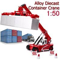 Diecast Container Stacker Toy Vehicles Crane Reach 1:50 Scale Alloy Truck for Kids Child Birthday Gift Car Model Toy