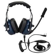 Шумоподавление авиационный микрофон гарнитура рация динамик Vox Регулировка громкости для Kenwwod Baofeng UV-5R Retevis H7