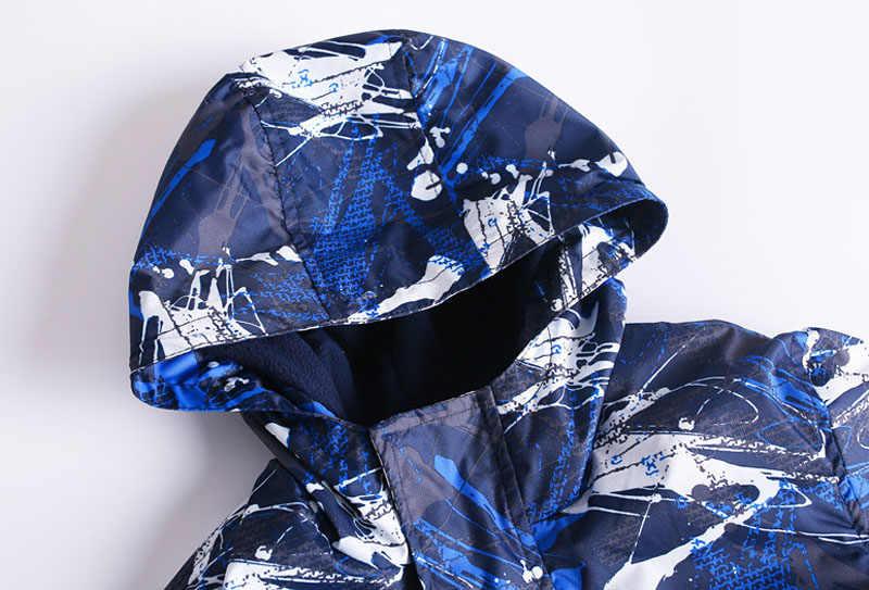 2019 г. Весенне-осенние детские спортивные куртки детские теплые флисовые пальто Верхняя одежда для мальчиков водонепроницаемые ветрозащитные куртки для мальчиков