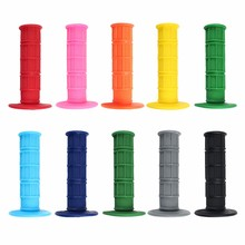 1 Pair 7/8 Inch 10 Color Motorcycle Rubber Handlebar Grips For CRF /YZF /WRF /KXF /KLX /KTM /RMZ Pit Dirt Bike Motocross(China)
