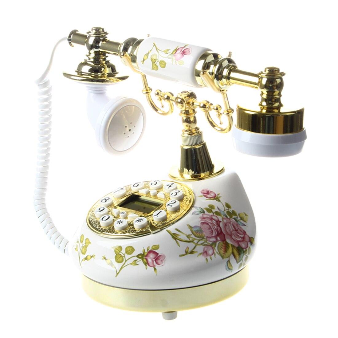 Antique Designer Phone nostalgia telescope vintage telephone ceramic MS-9100 Floral Corded PhoneAntique Designer Phone nostalgia telescope vintage telephone ceramic MS-9100 Floral Corded Phone