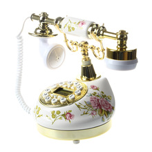Antiguo Diseñador teléfono telescópica vintage cerámica MS-9100 Floral con cordón