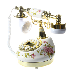 Antique Designer Phone nostalgia telescope vintage telephone made of ceramic MS-9100