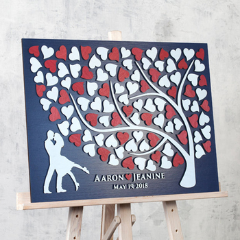 Wedding Gift For Couple 3D Wedding Guest Book Alternative Engagement Guestbook ideas Custom Rustic Wedding Guest book Sign Wood