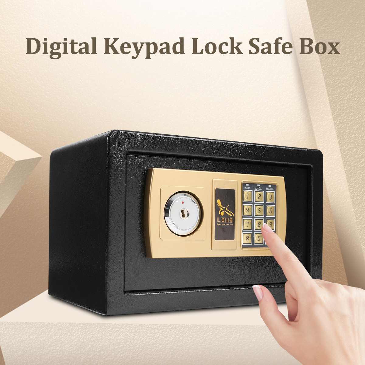 Safurance класса люкс цифровой хранилище падение Сейф для наличности шкатулка дома отель блокировка клавиатуры черный ремень безопасности кор