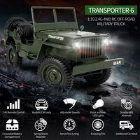 Rowsfire 1:10 2.4g 4wd Rc Trucks Remote Control Toys Off road Vehicle Military Climbing Rc Truck Toy For Kids Yellow/Green/Tan