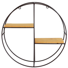 Shelves,Punch-Free Round Wall-Mounted Shelf|Living Room Tv Wall Set-Top Box Rack|Background Wall Decoration Wall Hanging