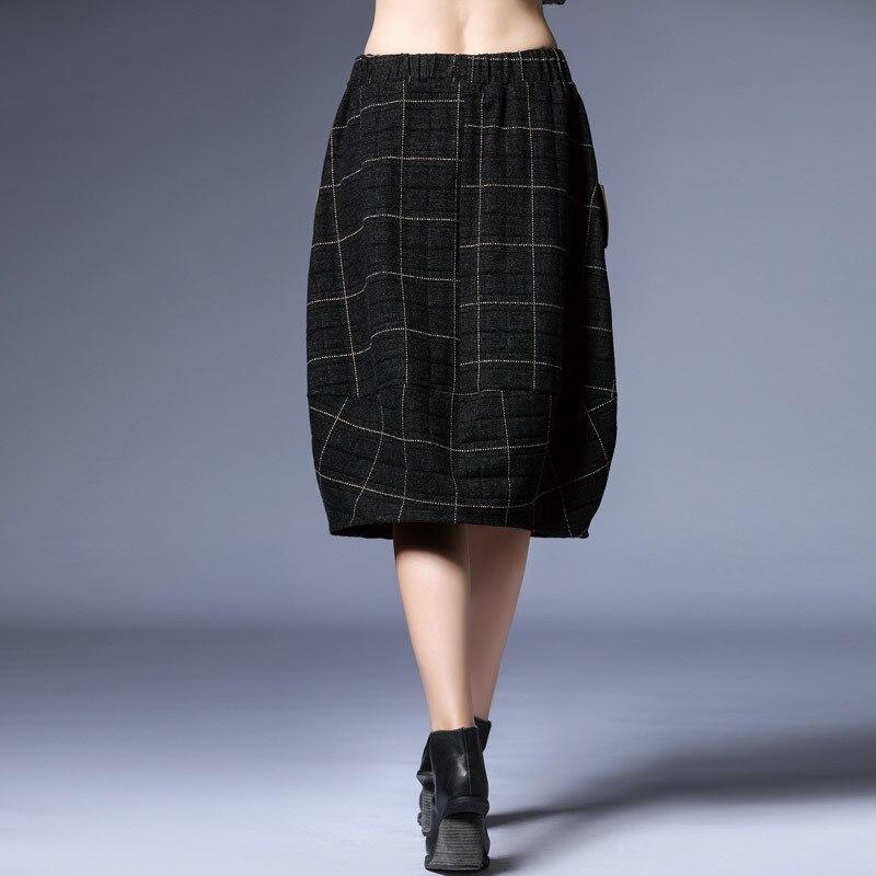 Tempérament Jupe 2019 Poches Nature Spliced eam Mode Femmes Plaid Nouvelle Qualité Lâche Black Elastique Supérieure De Lc144 Taille Printemps qPEwwfv6