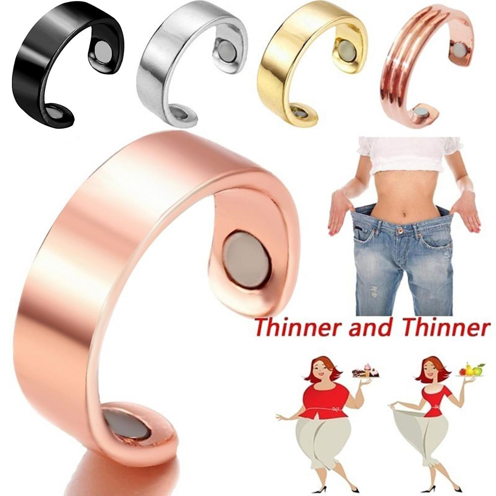Magnetic Weight Loss Ring Fat Burning Slimming Finger Ring Stainless Steel Health Care Medical Magnetic Slimming Ring Tools