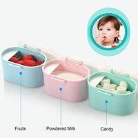 Портативный дозатор сухого молока контейнер для хранения бутылки коробка с совок для конфеты фруктовая формула закуски 4,9x3,7 дюйма