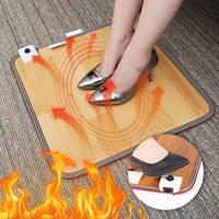 Winter Electric Foot Feet Warmer Heated Floor Carpet Heating Mat Office Home Heating Pad Warm Feet