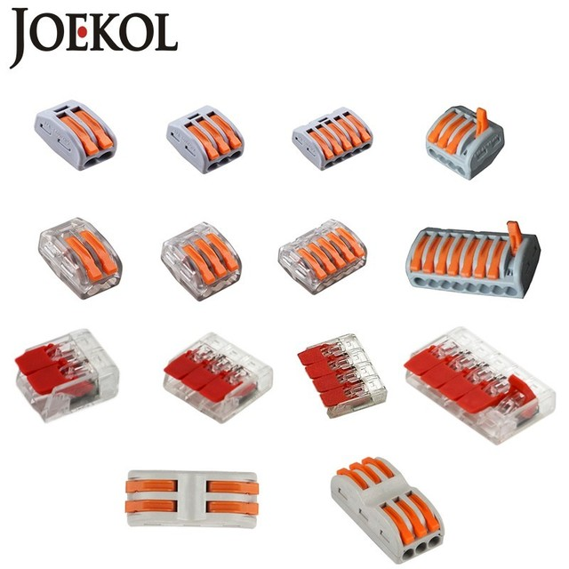 Free Shipping (30-50pcs/lot) 222 WAGO mini fast wire Connectors,Universal Compact Wiring Connector,push-in Terminal Block