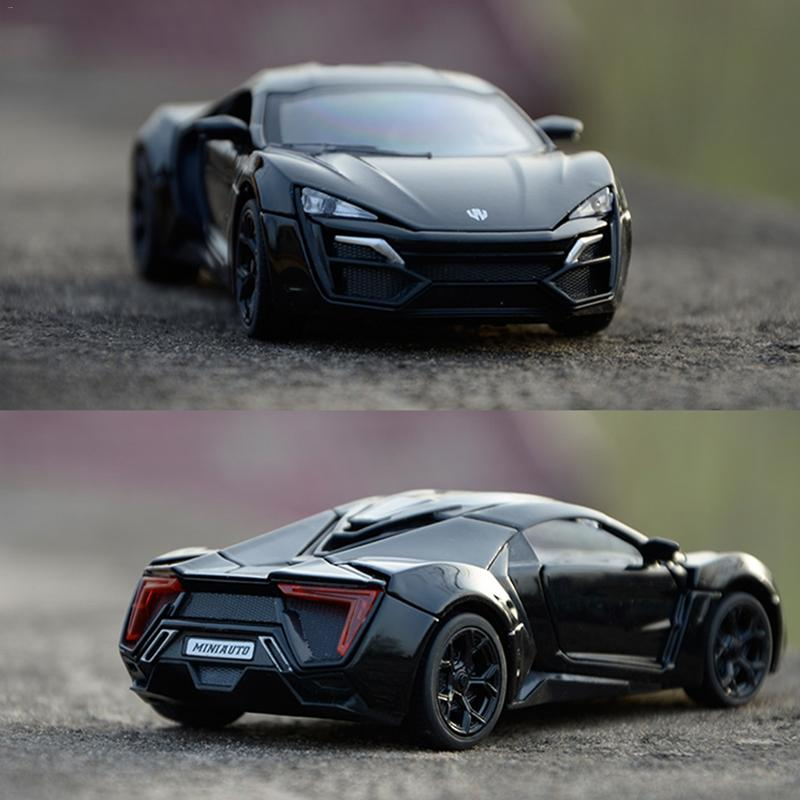 1:32 Lykan Hypersport Alloy Diecast Model Cars Sound & Ligh Pull Back Car Toys Gifts Children Birthday Gift Real Machine