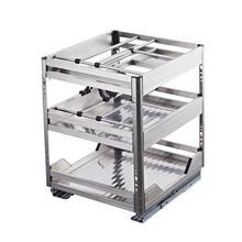 Organisadores Armario De Cosina Cestas Para Colgar En La Ducha Kuchnia Stainless Steel Organizer Rack Kitchen Cabinet Basket