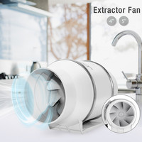 Mountable Exhaust fan 4/5 Oblique Flow Pressurized Circular Duct Fan Ventilation Strong Blower Kitchen Exhaust Fan With Clamp