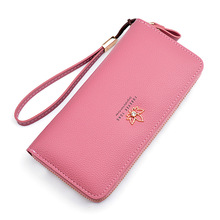 New Style Ms Wallet Female Long Fashion Zip Large Capacity Embossed Leather Leaves Women Clutch