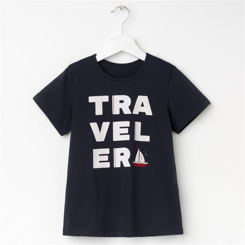 T Shirt for Boy's Travel P. 30 (98-104 cm), blue jumper print 18 98 104 cm