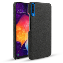 For Samsung Galaxy A50 A40 A30 A20 A10 Case Fabric Retro Slim Woven Cloth Hard PC Phone Cover 2019 Capa