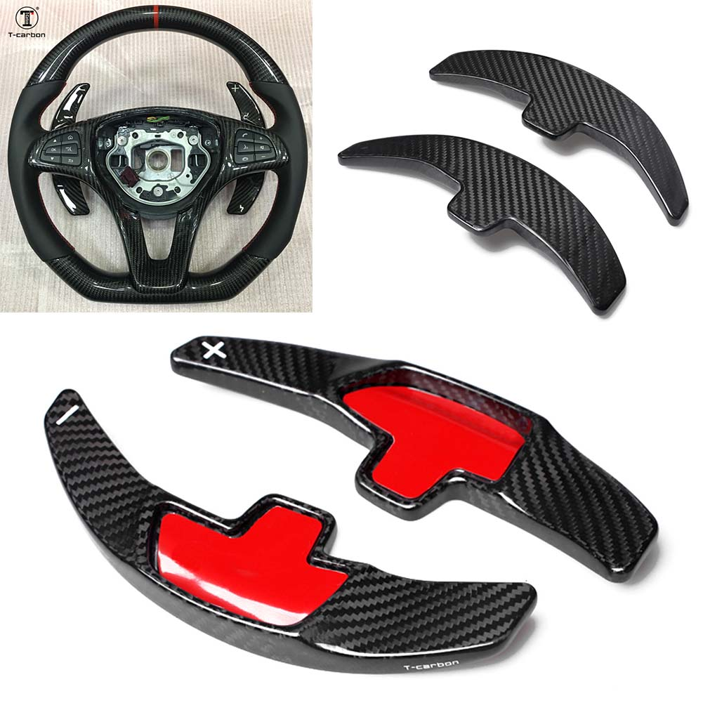 Carbon Fiber Steering Wheel Paddle Shift For Benz C180L C260L GLE CLA C200L GLC S Class
