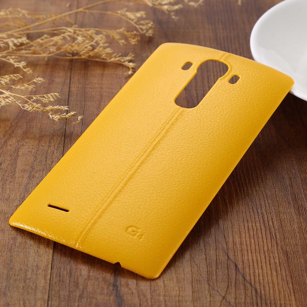 Pil arka kapak konut Case kapı arka kapak + NFC LG G4 H815 H810 LS991 US991 VS986 F500 konut Case NFC ile yedek