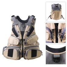 Fishing Vest Outdoor Multi-functional Breathable Mesh Cloth Fishing Vest Camping Fishing life jacket free size цена 2017