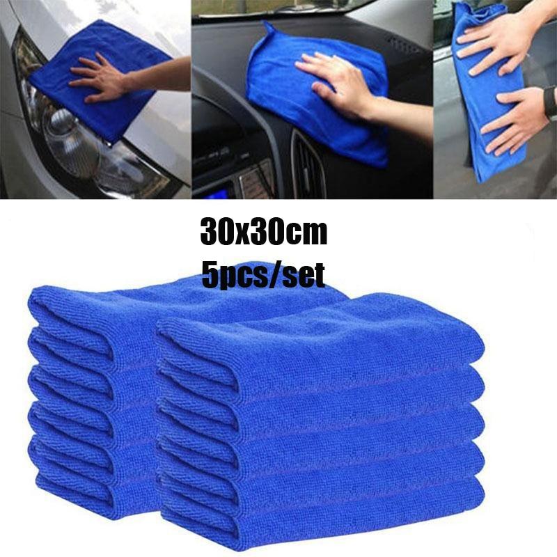 5 шт./компл. ткань для мытья автомобиля полотенце для мытья тряпки голубая мягкая впитывающая ткань для мытья автомобиля полотенце для мытья...
