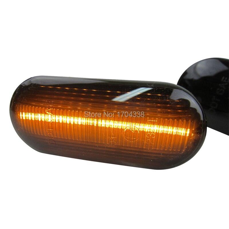 2 pc Fender Luzes LED Lado Marcador Turn Signal Lâmpadas Para Volkswagen VW Bora Golf3 Golf4 3B Lupo Passat Polo sharan Vento 6N T5
