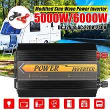 5000 Вт/6000 Вт пикс инвертор 12 В 220 В USB Авто модифицированный синусоидальный преобразователь напряжения солнечной энергии преобразователь автомобильного заряда