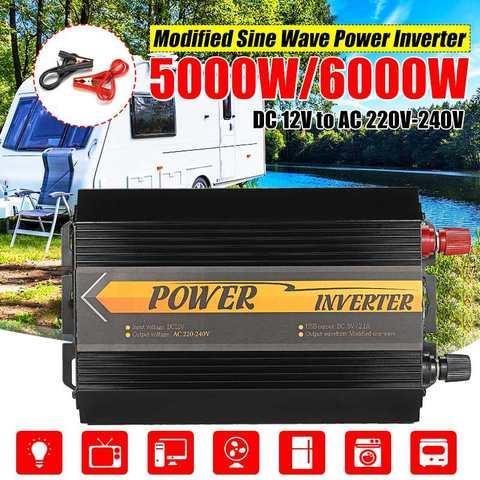 5000w 6000w picos inversor 12v 220v usb automatico modificado onda senoidal tensao transformador de energia