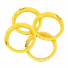 4pcs/set 66.6-57.1mm Hub Centric Ring Wheel Center Collar For Audi Mercedes SKODA