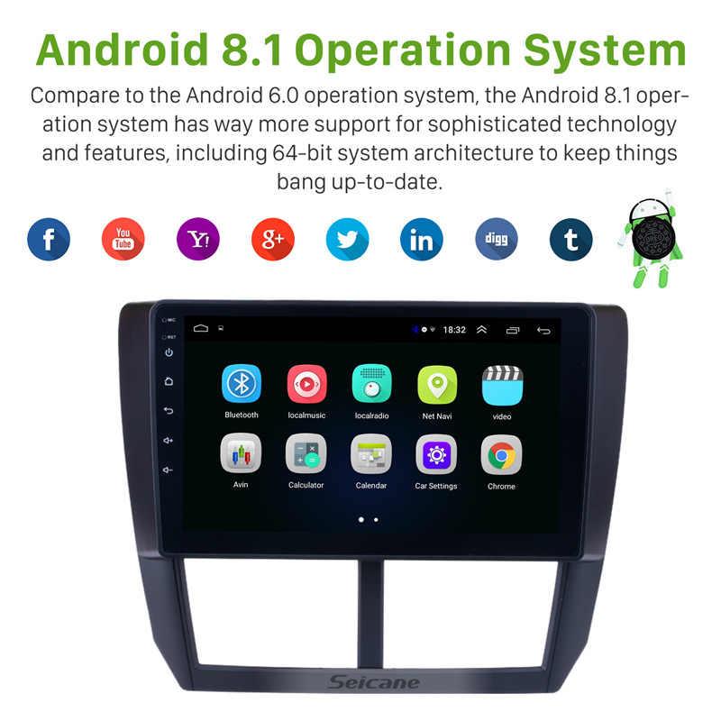 Seicane 9 بوصة 2din الروبوت 8.1 راديو السيارة ل سوبارو فورستر 2008 2009 2010 2011 2012 رئيس وحدة Wifi 3G مشغل وسائط متعددة GPS