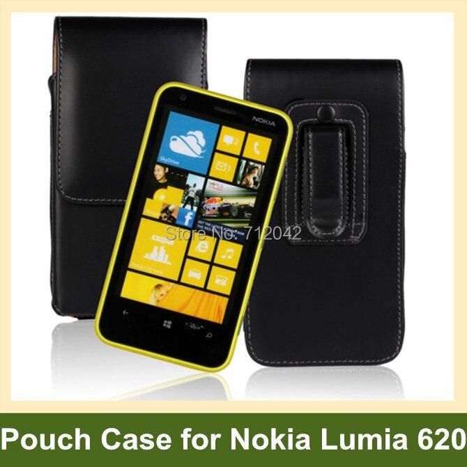 aceb2e550 الفاخرة حزام كليب بو الجلود فليب الحقيبة القضية ل نوكيا Lumia 620 شحن مجاني
