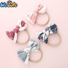 Wecute Baby Headband Big Bow Infant Newborn Toddler Headwear Ribbon Elastic Baby Turban Headdress Baby Girl Hair Accessories baby headband ribbon flower handmade diy toddler kid hair accessories floral girl newborn bows photography turban elastic infant