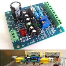 Stereo doppio VU Meter Driver Bordo Amplificatore DB Audio Livello di Intestazione VU Driver Degli Altoparlanti di Bordo Driver AC 12V di Ingresso retroilluminato